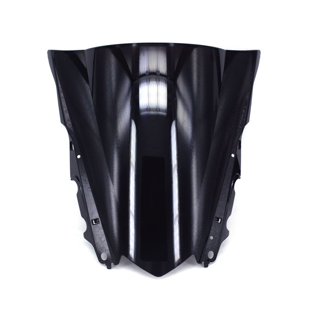 JFG RACING Black Windshield Windscreen Screen ABS Shield For Yamaha YZF R1 YZF-R1 2015 2016