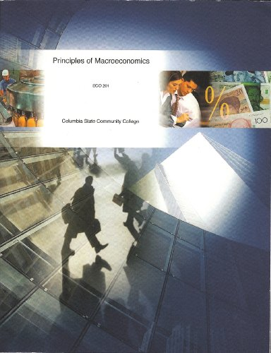 Principles of Macroeconomics ECO 201 Columbia State Community College