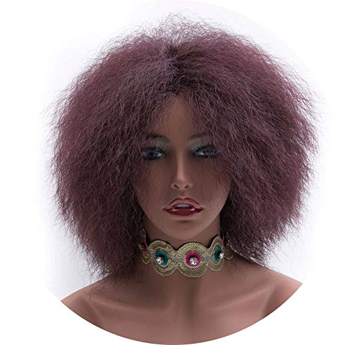 Short Wigs For Black Women Kinky Curly Afro Wig High Temperature Fiber Women's Wigs,#really,6inches]()