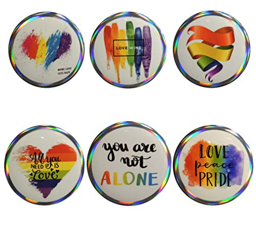 Pinback Love Button (Ryland and Brooks LGBTQ Gay Pride-Love Wins 6-Piece Pinback Buttons)