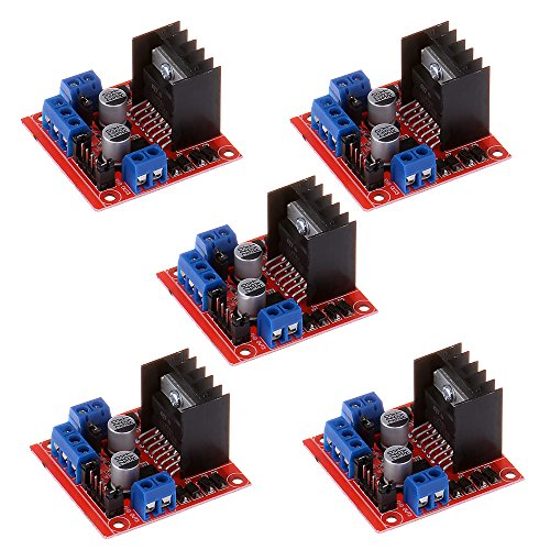 (Anmbest 5PCS L298N Dual H Bridge DC Stepper Motor Driver Controller Board Module for Arduino Smart Car UNO R3 Raspberry Pi Mega2560)