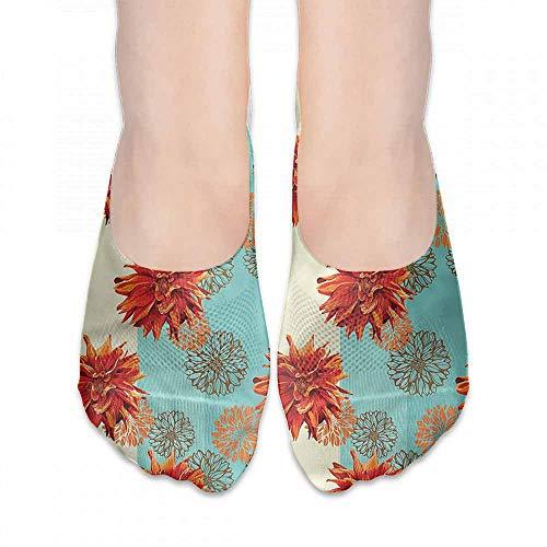 Dahlia Stockings - Hot sale Socks Dahlia Flower,Pastel Silhouettes,socks for toddler boys with grip