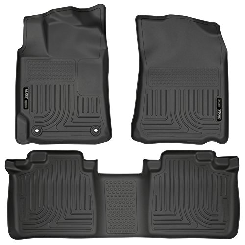 (Husky Liners 98901 Black Weatherbeater Front & 2nd Seat Floor Liners Fits 2012-2017 Toyota Camry)