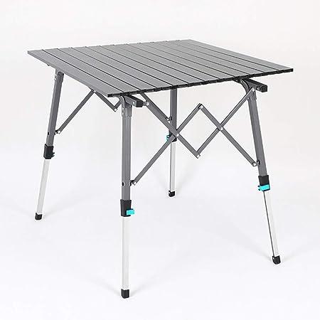 GJG Mesas Plegables De Picnic, Mesa Plegable De Aluminio, para Acampar O Jardín - Ajustable En Altura, con Bolsa De Transporte,2: Amazon.es: Hogar