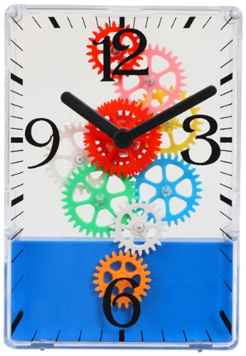 Maple's Colorful Moving Gear Table Clock (Visible Gears Clock With)