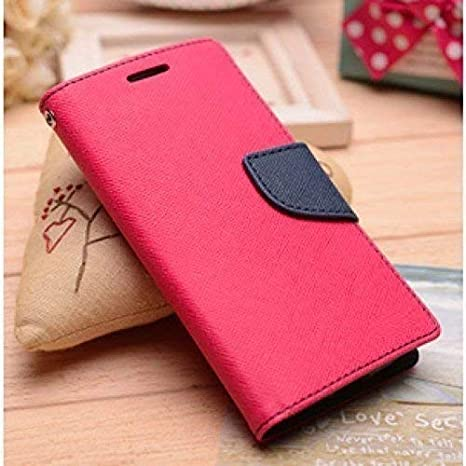 Verward Artificial Leather Flip Cover for Mi Redmi Y2  Pink, Blue  Cases   Covers
