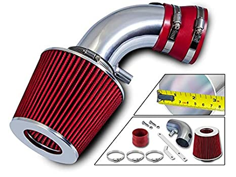 """Filter For 06-08 Impala//Monte Carlo 3.5L 3.9L V6 3/"""" RED Short Ram Air Intake"""