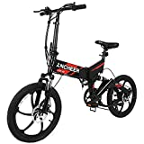 ANCHEER 2018 Waterproof Folding Electric Bike with Removable 36V 8Ah LG Battery, Foldable Electric Bicycle with 20
