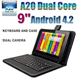 Goldengulf 9 INCH ANDROID 4.2 TABLET PC 8GB DUAL CAMERA DUAL CORE A23 + KEYBOARD CASE BUNDLE,Registered in Washington