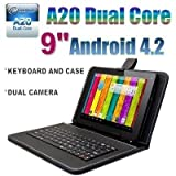 Goldengulf 9'' INCH ANDROID 4.2 TABLET PC 8GB DUAL CAMERA DUAL CORE A23 + KEYBOARD CASE BUNDLE,Registered in Washington