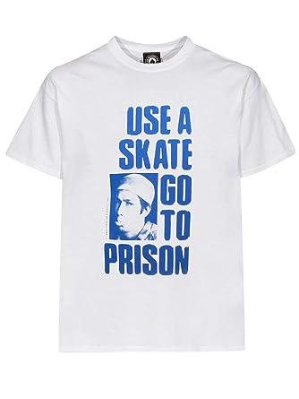 21c317c628f Thrasher - T-SHIRT THRASHER USE A SKATE GO TO PRISON WHITE  Amazon.fr   Vêtements et accessoires