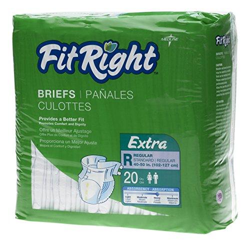 FITEXTRARGZ - Medline FitRight Extra Briefs,Regular by Medline B01L92L5A6