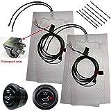 Tech Era Carbon Fiber Seat Heater Kit Hi/Lo Setting, 2 Seats