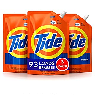 Tide Laundry Detergent Liquid, Original Scent, HE Turbo Clean, Pack of 3 Smart Pouches, 48 oz Each, 93 Loads Total (B01D5VN92G)   Amazon price tracker / tracking, Amazon price history charts, Amazon price watches, Amazon price drop alerts