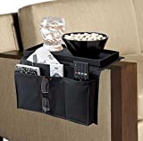 BNYD Sofa Arm Chair Caddy, TV Remote Control Organizer Holder