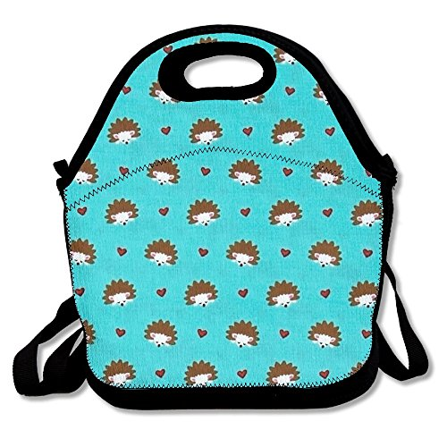 Foxwoods Hedgehog Heaven Turquoise Women Men Kids Picnic Lunch Tote Bag For Travel Office Camp School 29 X 29 X - Foxwoods Kids