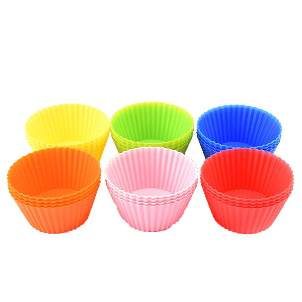 Amazon.com: Gessppo 24PCS Kitchen Craft Silicone Cake Cup Chocolate Cup Liners Baking Cupcake Cases 7CM: Kitchen & Dining