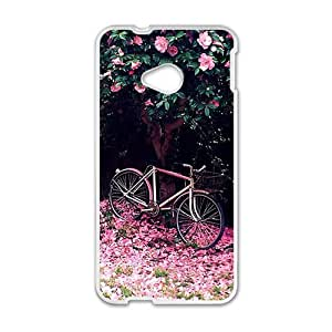 Beautiful pink flowers trees and ground personalized creative custom protective phone case for HTC M7