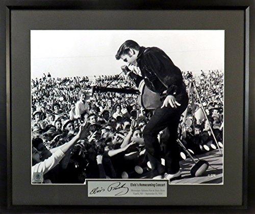 "Elvis Presley ""Homecoming Concert"" 11x14 Photograph (SGA Signature Engraved Plate Series) - Elvis Memorabilia Presley"