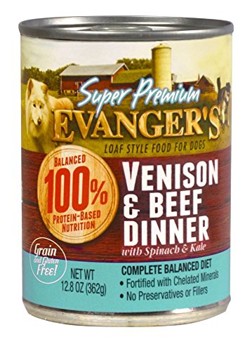 Evangers 20104 Super Premium Limited Ingredient Venison/Beef Dinner for Dogs 13 Oz