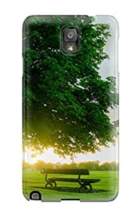 New Premium Flip Case Cover Nice Green Landscape Skin Case For Galaxy Note 3