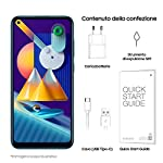 SAMSUNG-Galaxy-M11-Smartphone-Display-64-HD-TFT-3-Fotocamere-32GB-Espandibili-RAM-3GB-Batteria-5000-mAh-4G-Dual-Sim-Android-10-2020-Versione-Italiana-Metallic-Blue