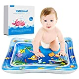 QPAU Tummy Time Water Playmat, Larger 28'' Tummy Time Inflatable Water Mat, Indoor Climbers and Play Activity Center for Baby Toys 3-6 Months
