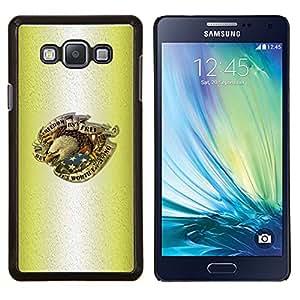 """Be-Star Único Patrón Plástico Duro Fundas Cover Cubre Hard Case Cover Para Samsung Galaxy A7 / SM-A700 ( Tinta del tatuaje de Eagle del patriota de los EEUU de América"""" )"""