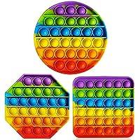 Bubble Sensory Fidget Toy Autism Special Needs Stress Reliever, Rainbow Pop Bubble Sensory Fidget Toy (3 PCS(Octagon…
