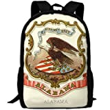 ZQBAAD Alabama State Coat Of Arms Luxury Print Men And Women's Travel Knapsack