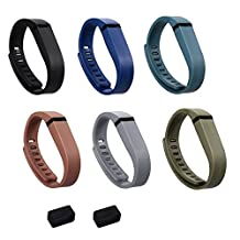 ULT-unite Colorful Replacement Bands with Metal Clasps for Fitbit Flex(No tracker, Replacement Bands Only)