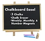 Magnetic Chalkboard With Magnets - Monthly, Weekly & Number Magnets, Educational - For Home, School, Office, Sale, Or Advertising. By Mega Stationers
