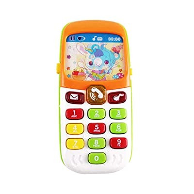 isilky Happy Talker Play Phone – Kids Phone Toy with 13 Buttons, Cartoon Animals, Nursery Rhymes, Fun Music Effects – Learning Toy Toddler Play Phone for Children 6 Months and Older: Home & Kitchen
