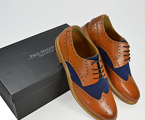 Tan Navy Malone Shoes Oxford Burnish and Navy 100 Tan and Dress Paul Leather BqYwIdaI