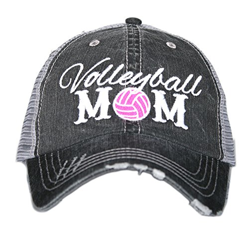 Volleyball Mom Shirt - Katydid Volleyball Mom Women's Trucker Hats Caps Gray