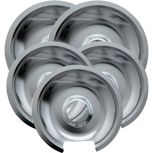 - Range Kleen 5-Piece Drip Pan, Style D fits Hinged Electric Ranges GE/Hotpoint/Kenmore, Chrome