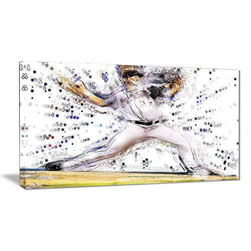 Baseball Large Framed Print (Digital Art PT2558-32-16