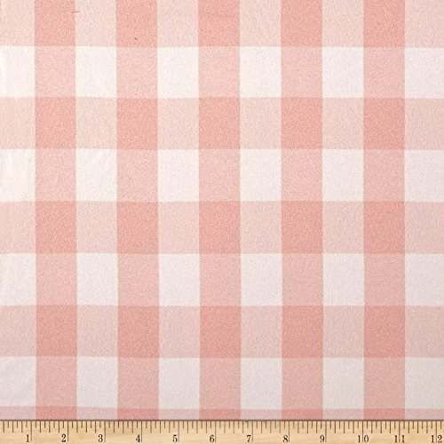 Ben Textiles Picnic Gingham Yarn-Dyed Blush Pink/White Fabric by The Yard