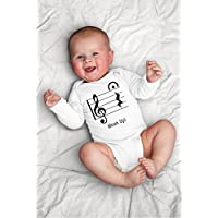 Funny Shut Up Baby Bodysuit for Band Music, Teacher, Orchestra, Musician