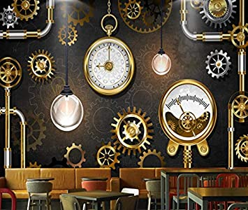 Cczxfcc Custom 3D Mural European American Industrial Golden ...