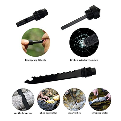 SUMERSHA Military Survival Folding Shovel and Pick Multi Purpose Tactical Army Surplus Shovel Trench Entrenching Tool with Carrying Pouch for Camping,Hiking,Backpacking,Fishing,Car Emergency Kit
