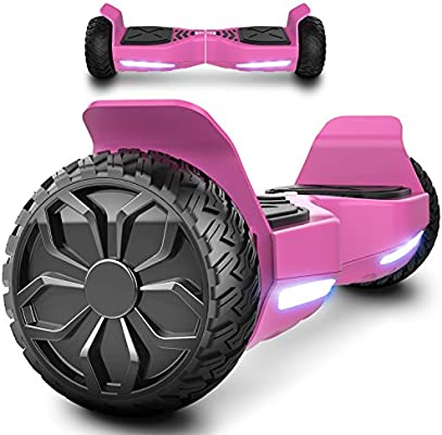 """Markboard Patinete Eléctrico 6.5"""" SUV Scooter Auto- Equilibrio Dual Motor Brillante con Bluetooth, LED Indicator EL-ES06"""