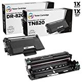 LD Compatible Brother TN820 / DR820 Toner & Drum Unit Set of 2 for DCP L5500DN, L5600DN, L6600DW HL L5000D, L5100DN, L5200DW, L6200DW, L6300DW & MFC L5700DN, L5750DW, L5850DW, L6700DW, L6800DW