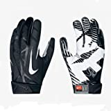 Men's Nike Vapor Jet 2.0 Football Gloves Black/White Size Small