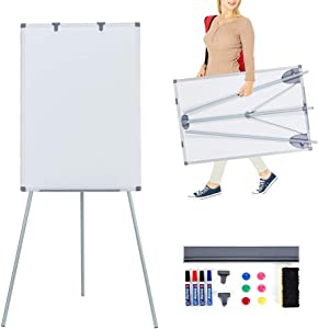 MAKELLO White Board Easel Dry Erase Board Magnetic Whiteboard with Stand for Classroom Teachers Office Home School, Adjustable Height, 36X24 inches
