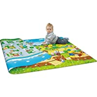 Vishal Smart Mall Waterproof Double Sided Baby Play Mat Child Activity Foam Floor Soft Kid Eductaional Toy Gift Gym Crawl Blanket Ocean Zoo Carpet - 120 x 180 cm