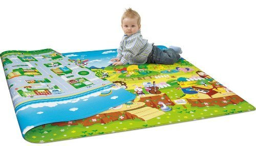 Vishal Smart Mall Waterproof Double Sided Baby Play Mat Child Activity Foam Floor Soft Kid Eductaional Toy Gift Gym Crawl Blanket Ocean Zoo Carpet_120 x 180 cm