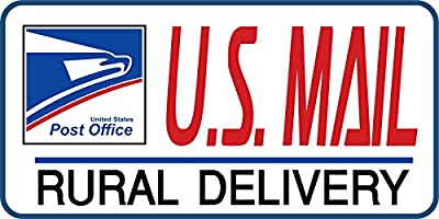 "Artisan Owl U.S. Mail Delivery Magnetic Sign for Rural Delivery Carrier Magnet USPS - 6""X11.5"""