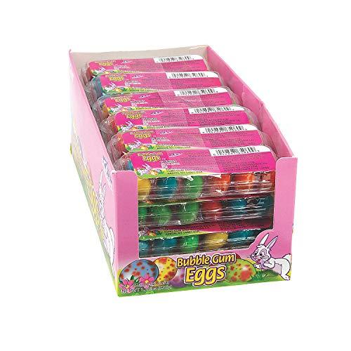 Easter Bubble Gum - Fun Express - Bubble Gum Mini Egg Carton for Easter - Edibles - Gum - Gumballs & Individually Wrapped - Easter - 24 Pieces