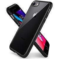 Spigen, Coque Etui Compatible avec iPhone 8/7 [Ultra Hybrid 2eme Generation] Clear Back Panel + TPU Bumper - [Noir]